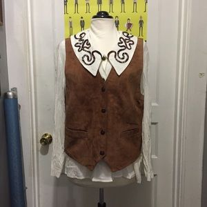 Vintage 90s Vest and Blouse Combo By CHU